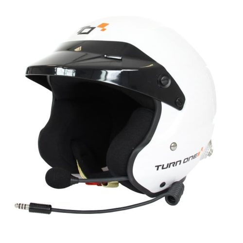 Casque FIA Jet TURN ONE Jet-RS Intercom PELTOR blanc 8859-2015