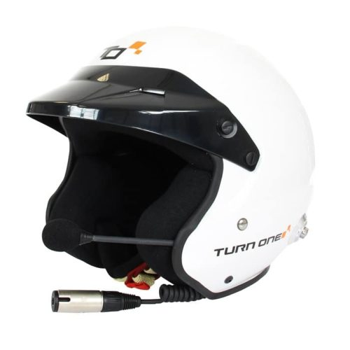 Casque FIA Jet TURN ONE Jet-RS Intercom STILO Trophy blanc 8859-2015