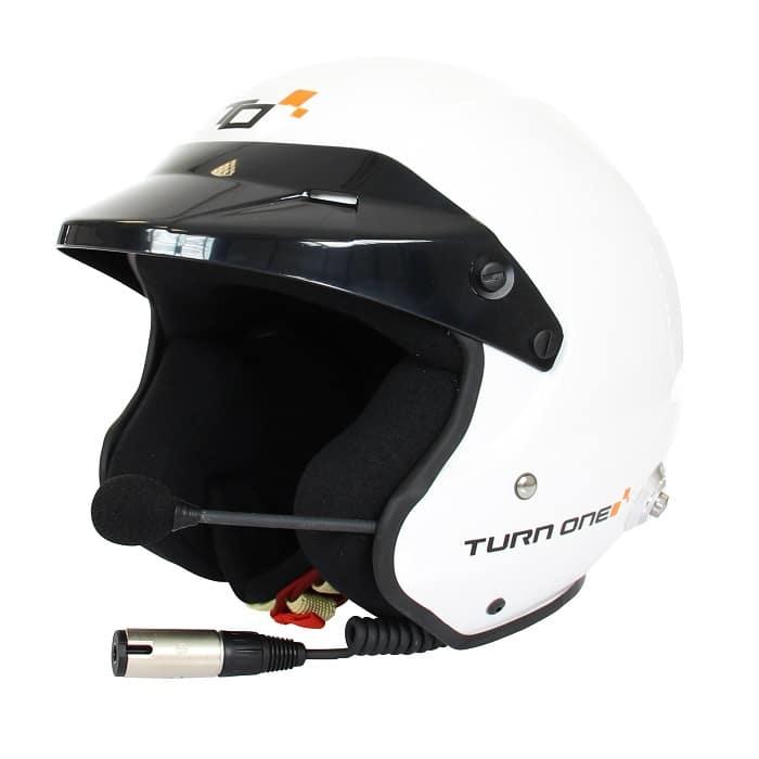 Casque FIA Jet TURN ONE Jet-RS Intercom STILO Trophy blanc 8859-2015