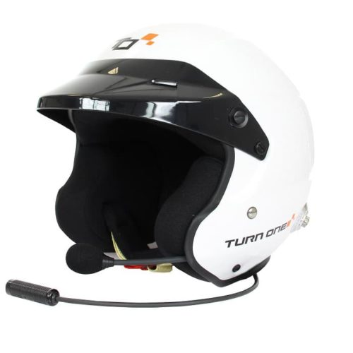 Casque FIA Jet TURN ONE Jet-RS Intercom STILO WRC blanc 8859-2015