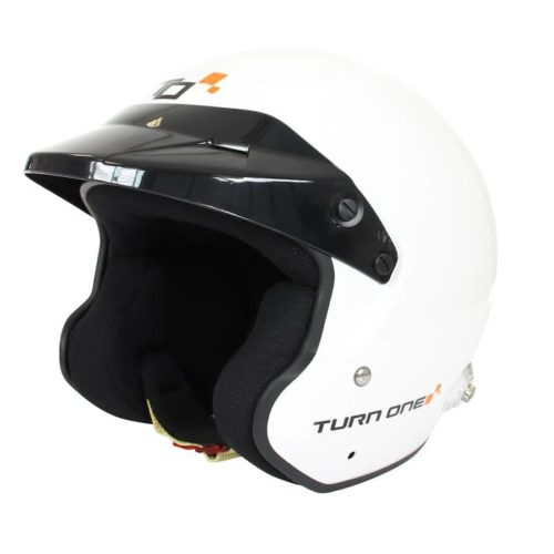 Casque FIA Jet TURN ONE Jet-RS blanc 8859-2015