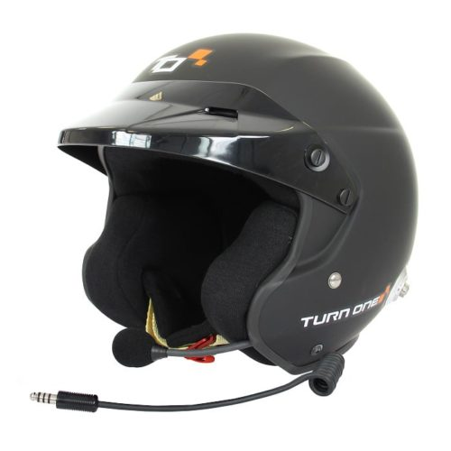 Casque FIA Jet TURN ONE Jet-RS Intercom PELTOR noir mat 8859-2015