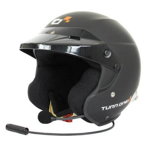 Casque FIA Jet TURN ONE Jet-RS Intercom STILO WRC noir mat 8859-2015